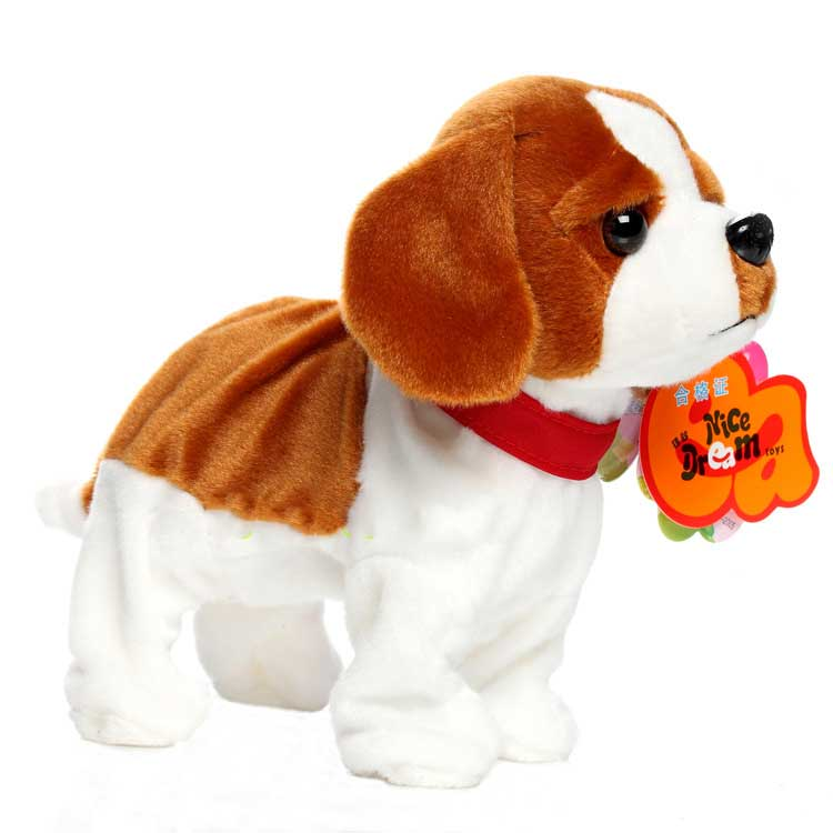 Sound Control Robot Dog Electronic Dog Pet Walk Bark Puppy Electronic Pets Kids Gift Interactive Plush Pet Dog Toys For Children dog puppy pet cat rope for small pets cute leash