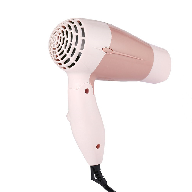 Hairdryer Mini Portable Foldable Handle Compact 1000W Hair Dryer Blow Dryer Hot Wind Low Noise Long Life for Outdoor Travel