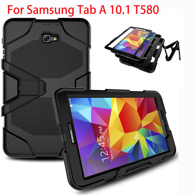 best website 42084 fbfa3 US $14.8 28% OFF|Aliexpress.com : Buy Case For Samsung Galaxy Tab A A6 10.1  2016 T580 T585 SM T585 T580N Case Cover Tablet Shockproof Heavy Duty With  ...