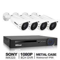 Witrue 8CH Video Surveillance System 1080P AHD DVR 4pcs 2 0MP Sony IMX323 AHD Security Camera