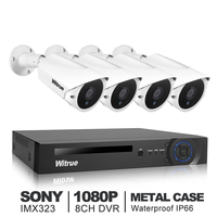 Witrue 8CH Video Surveillance System 1080P AHD DVR 4pcs 2 0MP Sony IMX323 AHD Security Camera