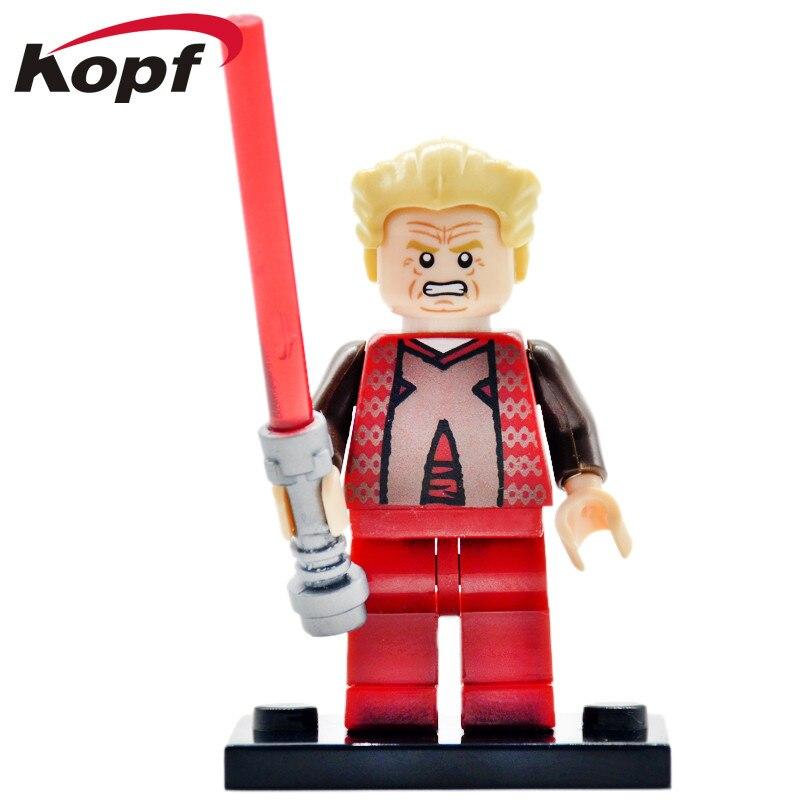 Single Sale Wars Chancellor Palpatine Arrest Starwars Obi Wan Luke Skywalker Building Blocks Best Children Gift Toys PG651