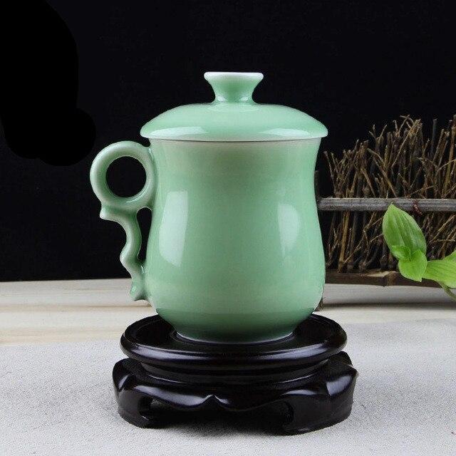 300cc China Longquan Celadon Geyao Tea Set Tea Cup Office Tescup
