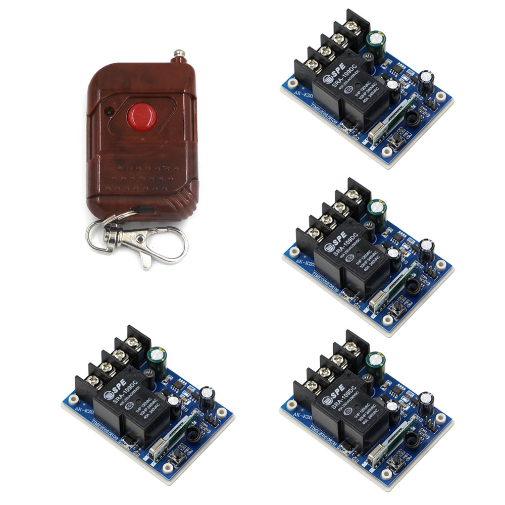 Smart Home DC 12V 24V 36V 48V 30 A 1 Channel RF Wireless Remote Control 4pcs Receiver & 1 pcs Transmitter for Lamps & Shutter new arrivals dc 12v 24v 36v 48v 30 a 1 channel rf wireless remote control 2pcs receiver
