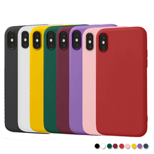 Siliicone TPU phone back cover for iphone7plus case matte plain soft iphone7 iphoneXS XR XSMAX 6 6s 6plus 8plus