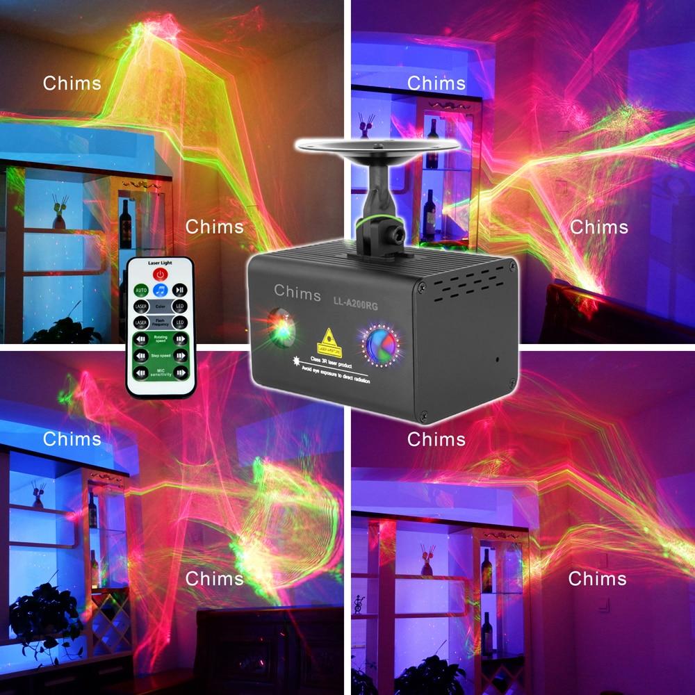 Chims Parti Lumière Laser RGB LED Galaxy Professionnel Projecteur Aurora Effet Décorer Disco Étape Xmas Party DJ LL-A200RG Événement