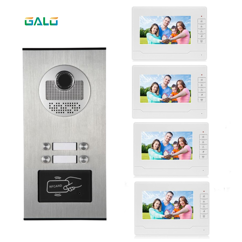 Video Door Phone Waterproof Outdoor Ring Video Doorbell Gate Intercom Systems With Camera