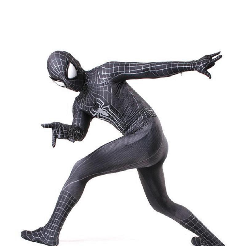extraordina Black Spiderman Coveralls Carnival Halloween Hero Returns Spiderman Tights Warrior COSPLAY Anime Costume zentai