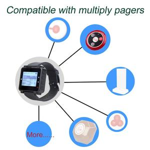 Image 2 - Retekess t128 relógio receptor pager sem fio 433.92mhz para garçom sistema de chamada restaurante equipamentos escritório café