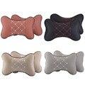 2pcs Black Gray Orange Car Seat Head Neck Rest Massage Memory Foam Cushion Pillow Support Headrest Beige wholesale