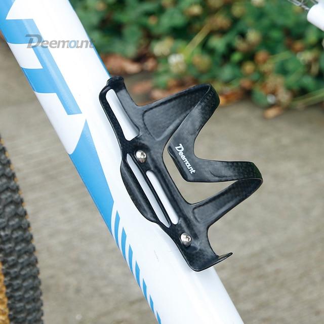 Deemount 25gram 탄소 섬유 병 케이지 자전거 사이클링 물병 홀더 매트 가구 스테인레스 스틸 볼트와 함께 제공