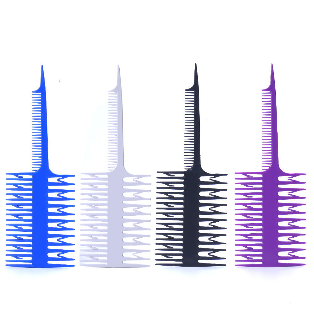 1PC Salon Professional Fish Bone Shape Comb Hair Dyeing Sectioning Highlighting Comb Women Big Tooth Comb Hair Dyeing Tool