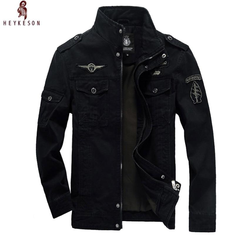 Heykeson New Mens Green 3 Colors Military Jacket Winter Cargo Plus Size M-xxxl 5xl 6xl Casual Man Jackets Army Clothes