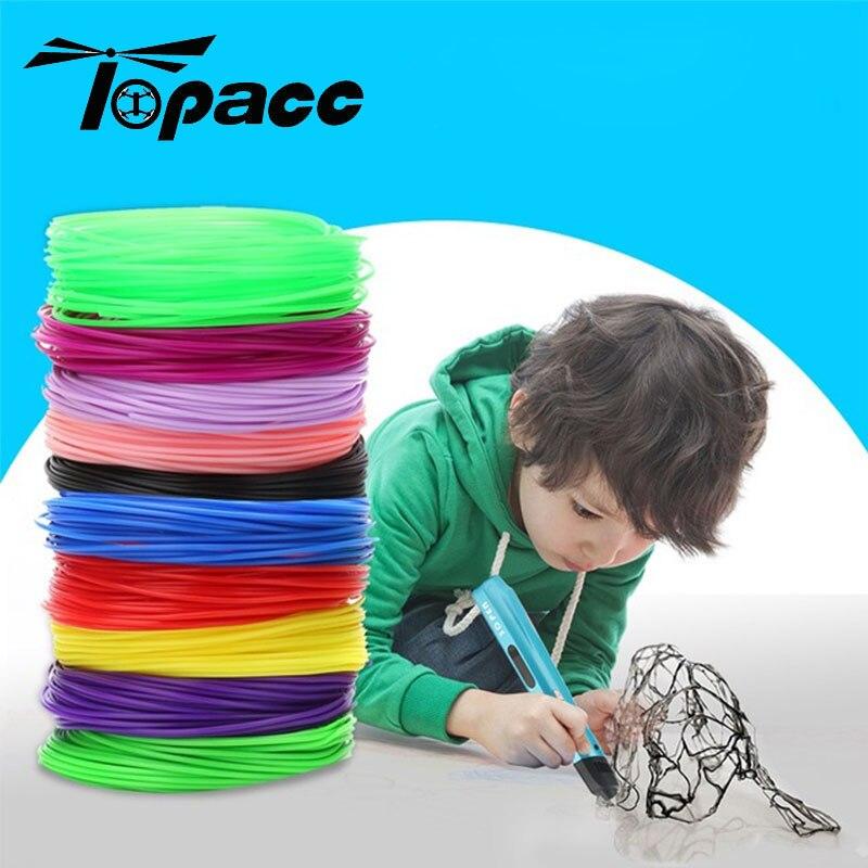For 3D Pen Printing Creative Line 20 Colors 1.75mm 5M 10M 50M 100M Children Print Drawing PLA ABS Material Multicolor Random