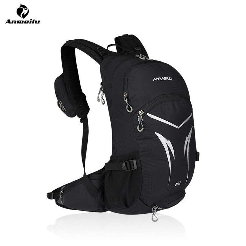 Anmeilu 20L Nylon Climbing Camping Cycling Backpack Bicycle Shoulder Pack Road Mountain Bike Bag Breathable Riding Travel Bag anmeilu waterproof unisex travel bag 20l outdoor bicycle bike bags mountain camping climbing rucksack outdoor hiking hunting bag