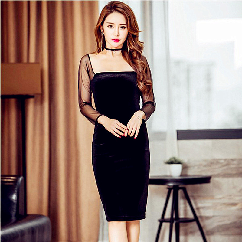 Popular Plus Size Black Velvet Dress-Buy Cheap Plus Size Black ...