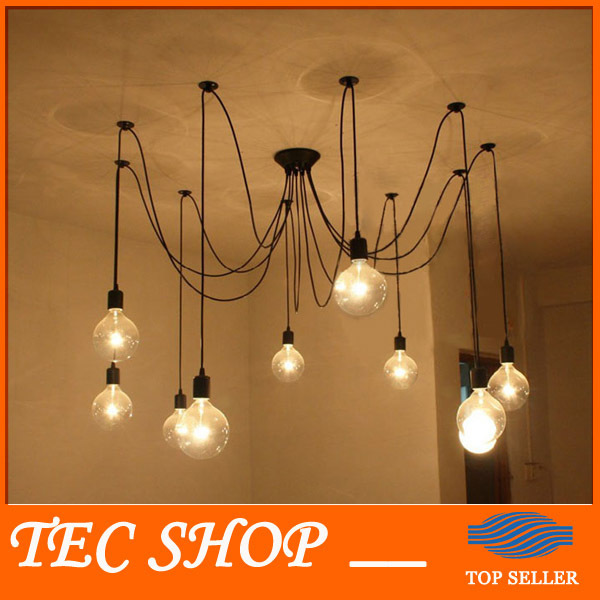 Best Price Retro Rustic Pendant Lights Vintage Creative Spider Lamp Heavenly Maids Scatter Blossoms Lamp Clothing Store Bar retro cafe bar long spider lamp loft light industrial creative office the heavenly maids scatter blossoms chandelier