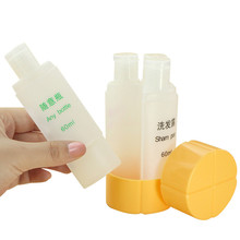 3 in 1 Storage Sub-Bottle Flip Lid Portable Plastic Lotion Shampoo Container 4 Empty Bottle for Travel Camping Outing