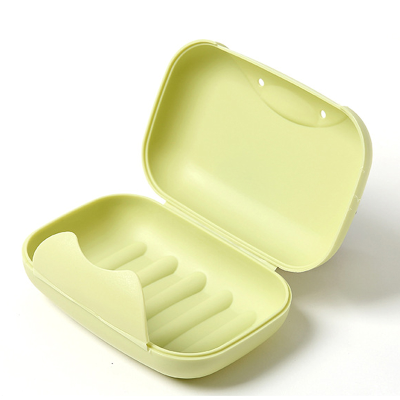 1pcs Small/big Sizes Portable Soap Dishes Soap Container Bathroom Accessories Travel Home Plastic Soap Box With Cover 2 Sizes