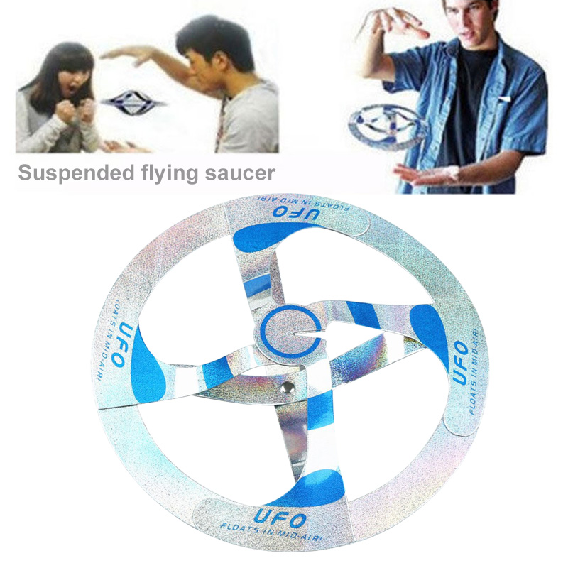 Mystery UFO Floating Flying Disk Saucer Magic Trick Show Cool Toy YJS Dropship
