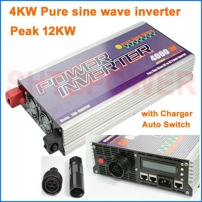 Free shipping!High quality 4000w 4kw pure sine wave inverter 3 different working modes dc   24v input free shipping 3pcs top quality pure garcinia cambogia extracts weight loss 75