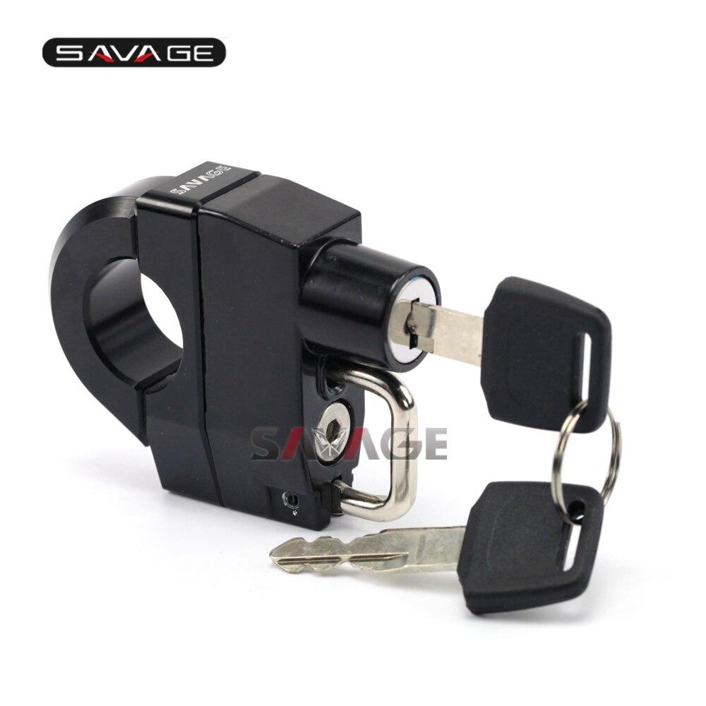 25mm Handlebar Universal Helmet Lock For SUZUKI Boulevard C50 C90 C109R M50 M90 M109R XL800LC XL1500LC VX800 VZ800V in Covers Ornamental Mouldings from Automobiles Motorcycles