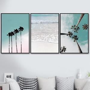 Coconut Palm Tree Pink Beach S