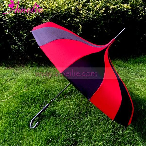 Free Shipping Amelie Vintage Style Pongee Fabric Pagoda Umbrella