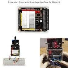 Для BBC Micro: Плата расширения бит с макетной платой на бортовой и прозрачный защитный чехол для графического программирования питона DIY