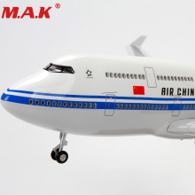 цена на 1/150 Scale Airplane 47CM Boeing 747 Model Airlines Plane Model Aircraft with Stand and wheel Sound & Light Model