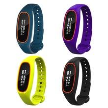 DB01 монитор сердечного ритма браслет Bluetooth фитнес-трекер IP68 водонепроницаемый OLED 0.91 дюймов Смарт-браслеты для смартфонов