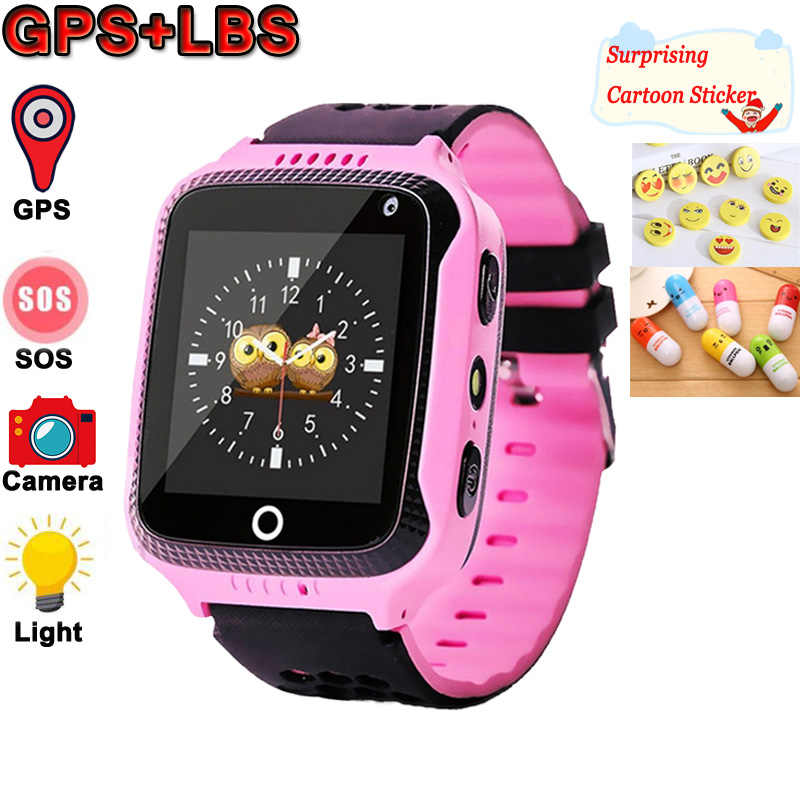 Q528 Kids Smart Watch with Camera Lighting GPS Smart Watch Sleep Monitor SOS Baby Clock 2G SIM Anti-lost Children's Smartwatch.