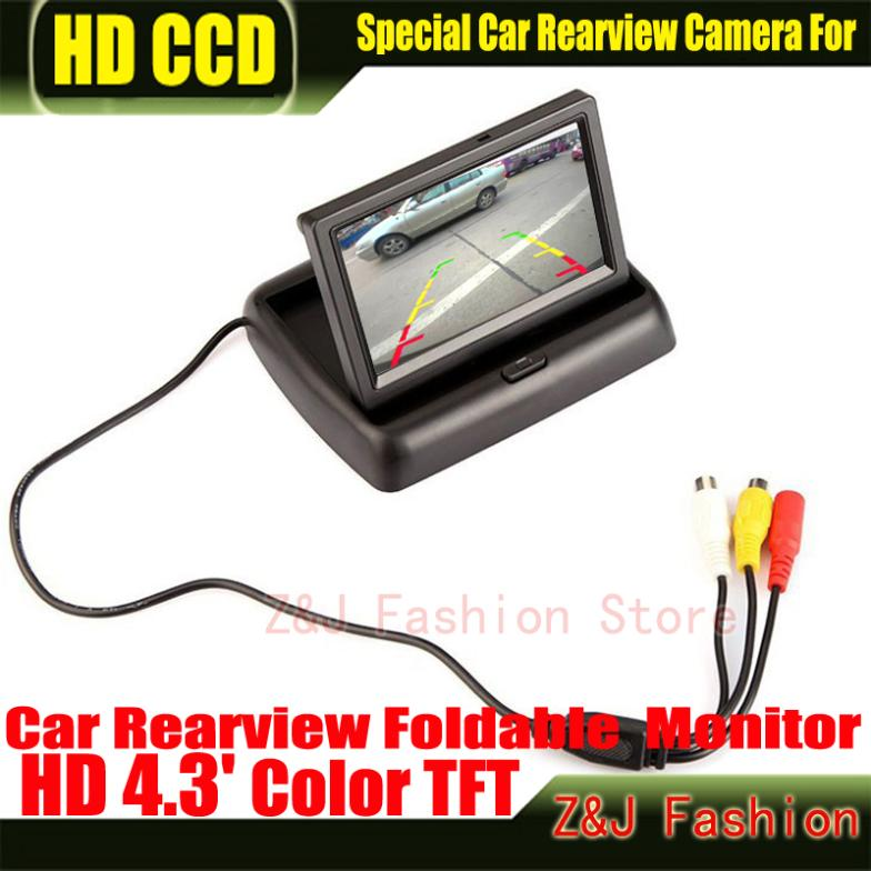 """Image 4 - Hot! 4.3"""" TFT LCD Color Monitor car dashboard safety monitoring of Auto Reversing Parking Foldable Camera Rearview Monitor-in Vehicle Camera from Automobiles & Motorcycles on AliExpress"""