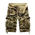 2017 Ocasionales de Los Hombres Cortos de Carga Para Hombre Verano Estilo de Camuflaje Overoles Multibolsillos Sueltos Pantalones Cortos de Algodón de Los Hombres Ropa de Tamaño 38