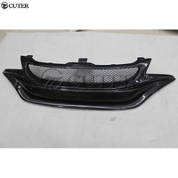 For Honda fit Racing grills Carbon Fiber Front bumper Grille body kit 13 18 Racing Grills     -