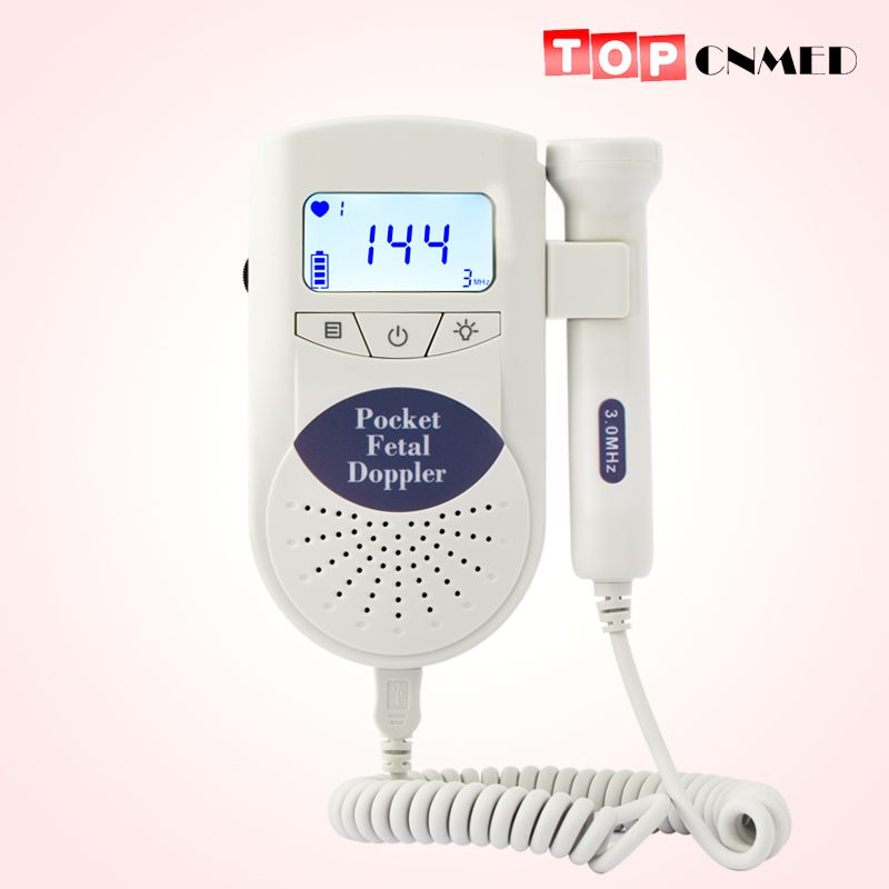 Large LCD display CE JUMPER Angelsounds Fetal Doppler Portable Ultrasound Fetal Heart Monitor with 3MHz probe