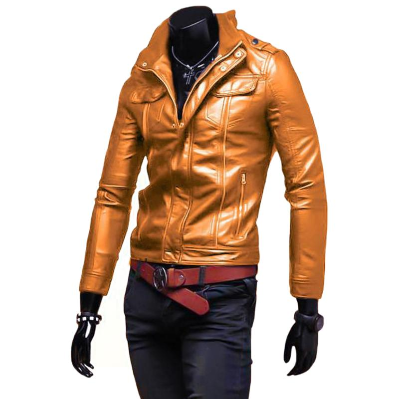 c710b37a Online Shop Men Leather Jacket High Quality Fashion Motorcycle Style Male  Business Casual Coat Western Mens Cowboy Jackets L~XXL | Aliexpress Mobile