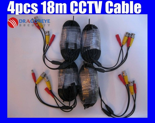 CCTV Cable 20m, 18m with BNC + DC for CCTV Camera Cable and DVRs, 20m,18m BNC coaxial Cable
