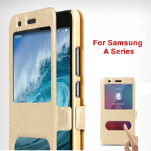 For Samsung Galaxy A5 A3 A7 2017 A8 A6 Plus A520 A320 A720 PC + Leather Flip Case  For Samsung A 5 3 7 6 2018 2017 2016 Cover