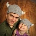 2016 Funny Creative Viking Vikings Hand-Knitted Crochet Face Mask Rome Warrior Knight Crochet Mustache Knitted Helmet Hat Caps