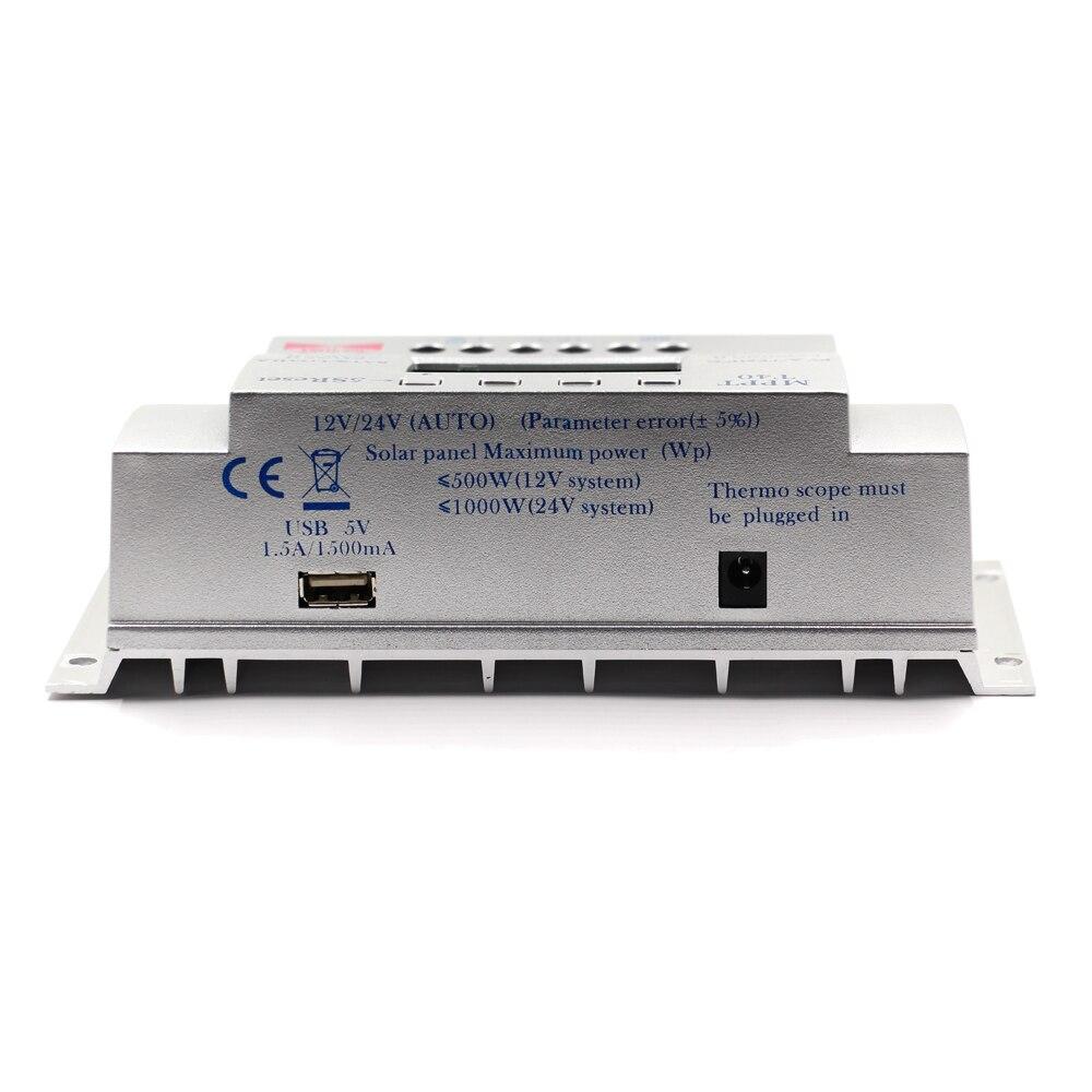 MPPT T40 40A regulador de carga Solar 12 V 24 V Auto LCD controlador de pantalla con carga doble temporizador de Control para el sistema de luz de calle - 6