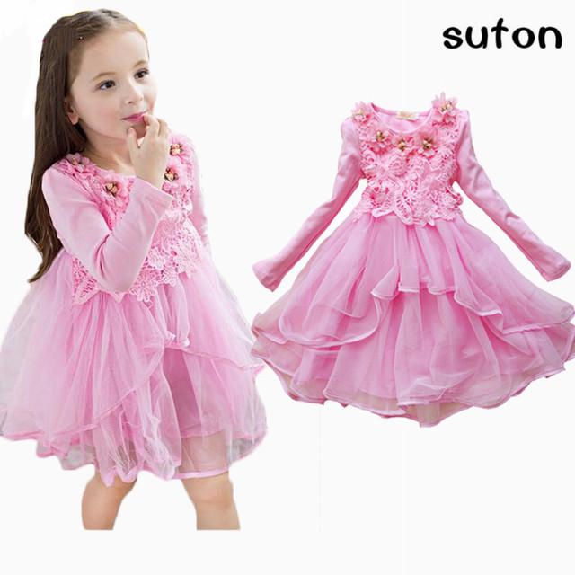2017 flower girl dress princess tutu véu do casamento do presente do partido da menina de flor vestido de noite crianças vestido rosa branco cores dos doces