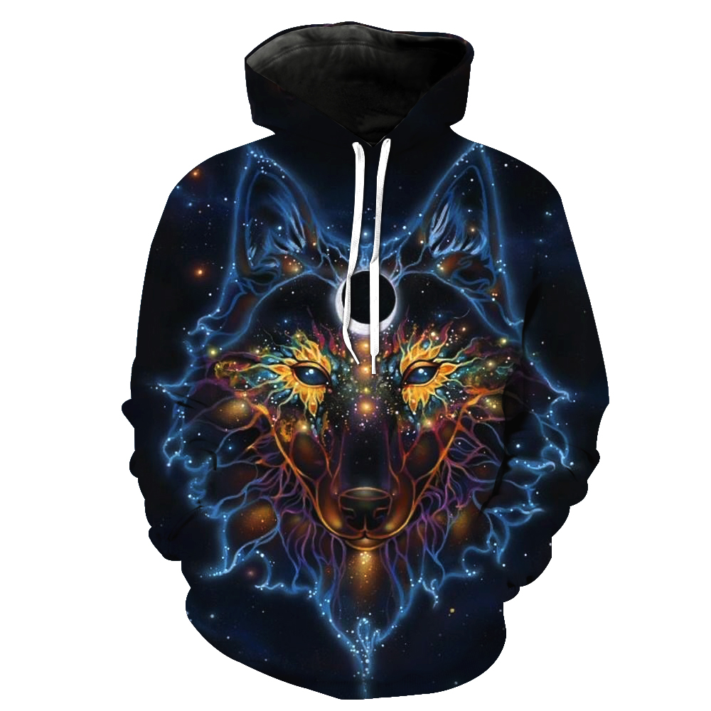 Night Wolf 3D Hooded