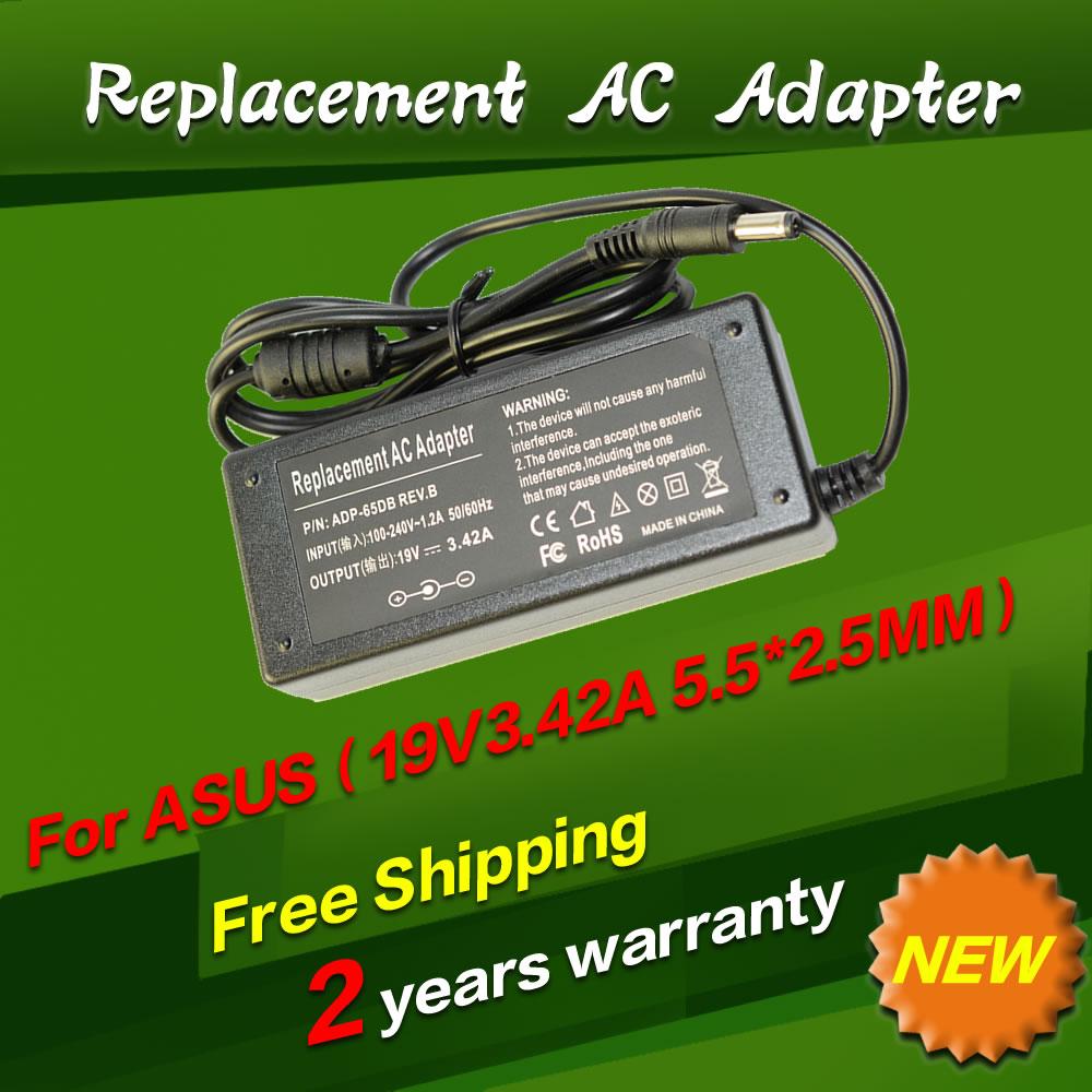 Replacement For Asus 19V 3.42A 5.5*2.5MM 65W k50ij K40IJ x550c A52F K501 K50IJ K50i K52F Laptop AC Charger Power Adapter