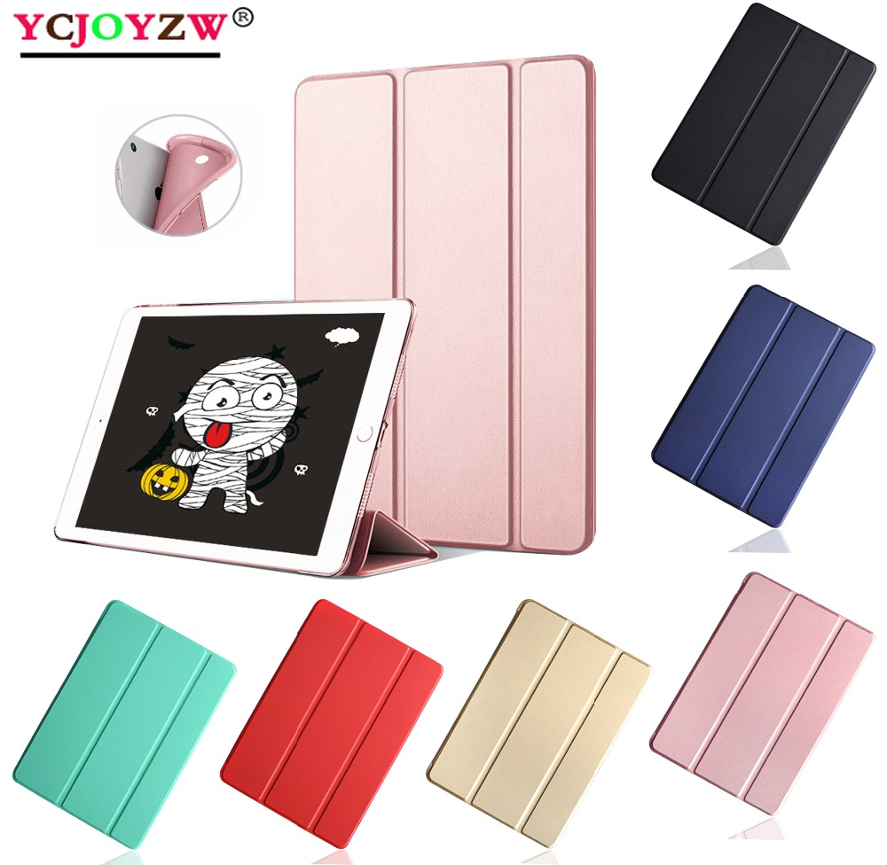 For ipad Air 2 - 2014 Listing Case : A1566`A1567 , Silicone Soft Back + PU Leather Smart Cover for iPad Air2 Case - YCJOYZW pentel zl62 w zl62 w 7ml
