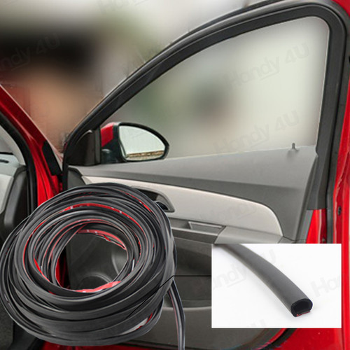 car window rubber seal	  Car Door Window Noise Weather Rubber Seal Strip Free Adhesive (D ...