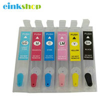 T0791-T0796 for Epson T0791 Empty Refillable Ink Cartridges for Epson Stylus 1400 1410 1500 1430 PX700W PX800FW P50 PX830FWD