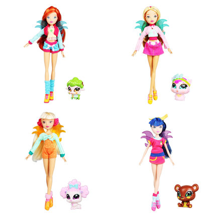 best quality Winx Club Doll rainbow colorful girl Action Figures  Dolls with lovely pets Classic Toys For Girls Gift slim folio colorful painted pu leather case cover for huawei mediapad t2 pro 10 0 fdr a01w fdr a03l tablet pc screen film