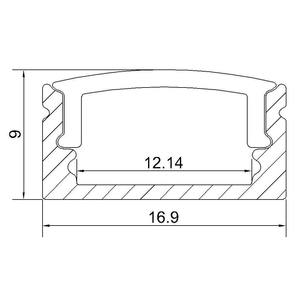 UnvarySam Perfil de aluminio negro para barra de luz LED 5Pcs 1M - Iluminación LED - foto 6