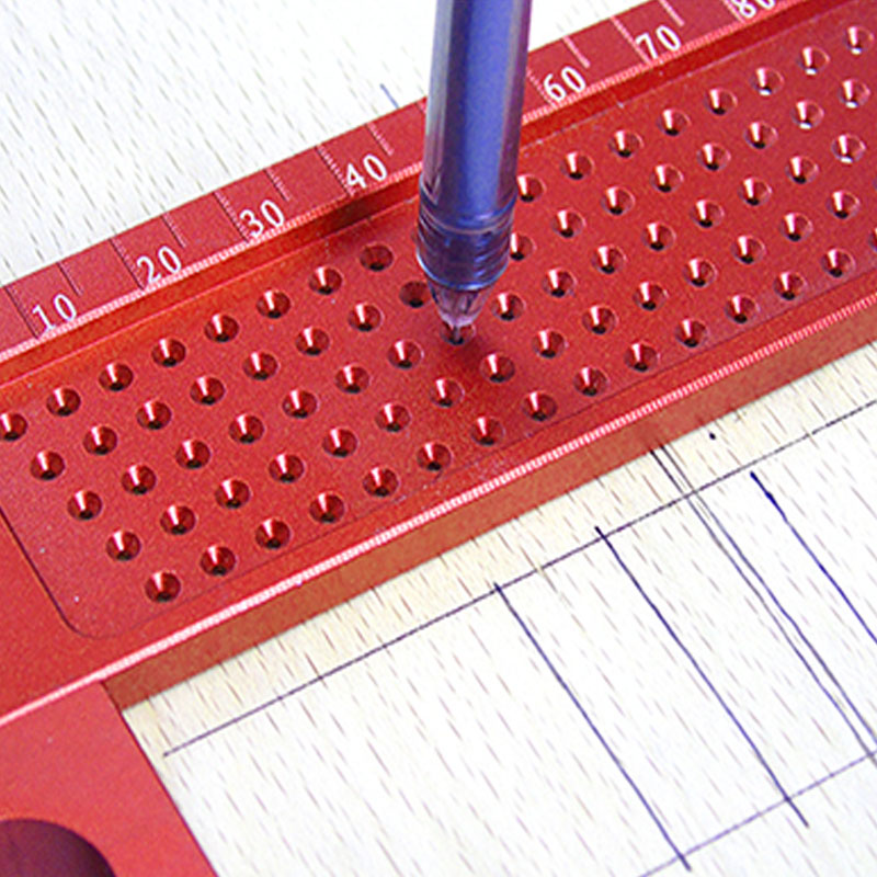 TALI T Ruler Woodworking Scriber Ruler Hole Positioning Measuring Ruler Precision Marking T 160 in Gauges from Tools